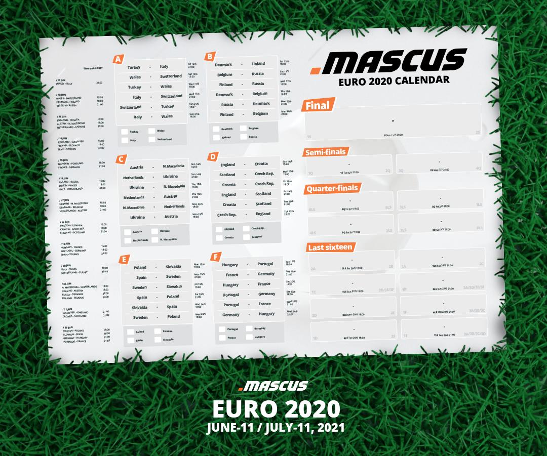 calendario EURO 2020 Mascus